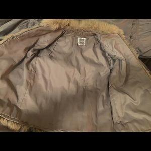 Saga Fox Jackets & Coats - White/Beige Faux Fur Coat Perfect for Burning Man